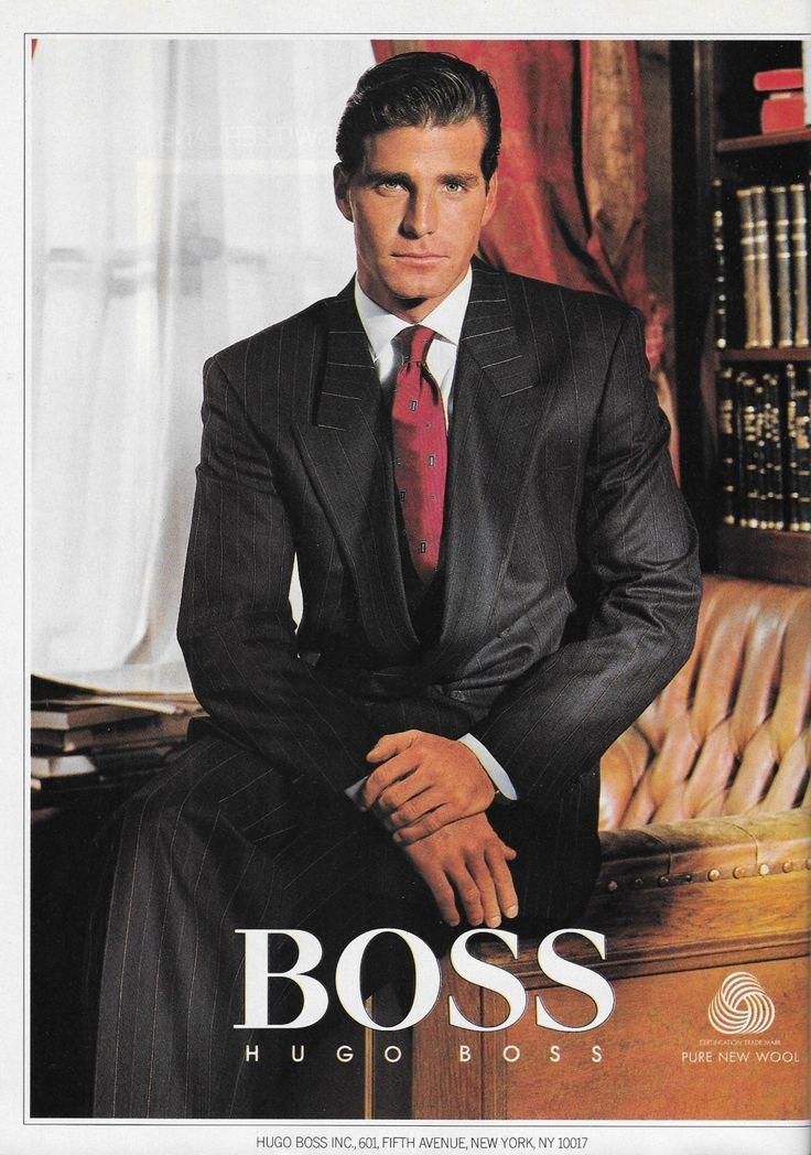 GQ October 1987--Michael Flinn for Hugo Boss