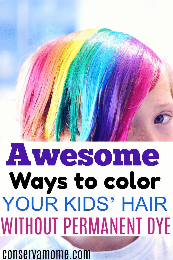 Awesome Ways To Color Your Kids Hair Without Permanent Dye Hair Dye For Kids Food Coloring Hair Food Coloring Hair Dye