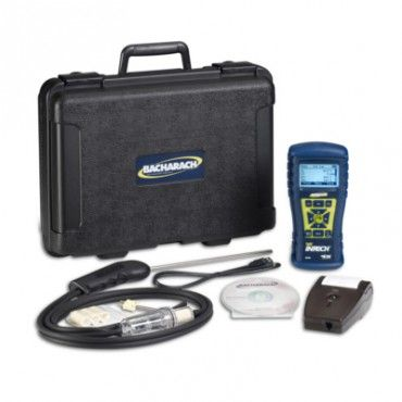 Bacharach Fyrite InTech Combustion Analyzer 0024-8512 is an advanced residential combustion analyzer. The Fyrite InTech measures oxygen, carbon monoxide, stack temperature and ambient temperature. The backlight high-contrast LCD graphic displays the results in any condition. Made in USA.