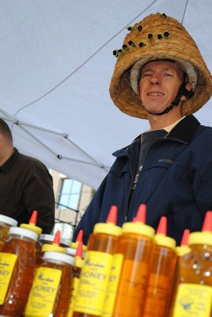 Honey farmer at Madison Farmer's Market. Dreamin of Summer!