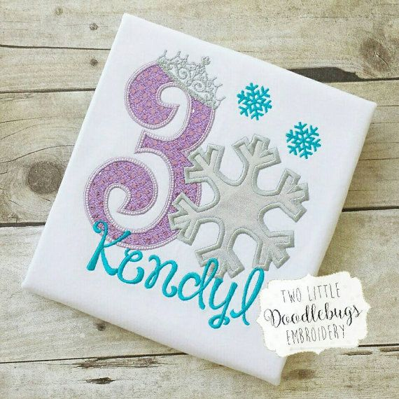 Frozen Birthday Shirt-Snowflake Birthday by TwoLittleDoodleBugs