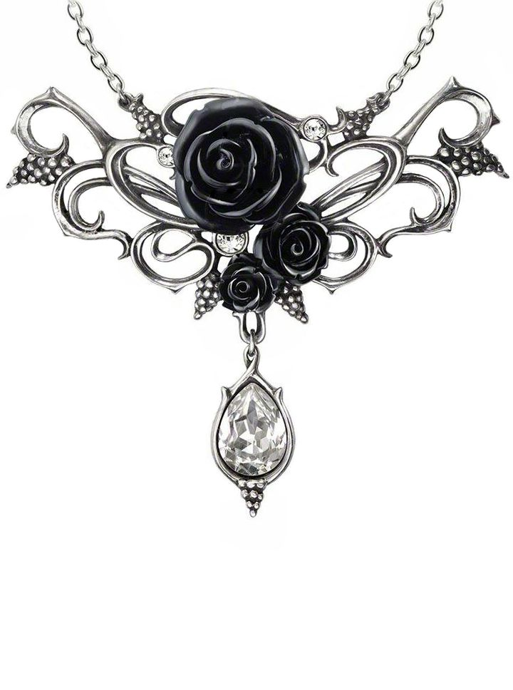 """Bacchanal Rose"" Necklace by Alchemy of England $80"