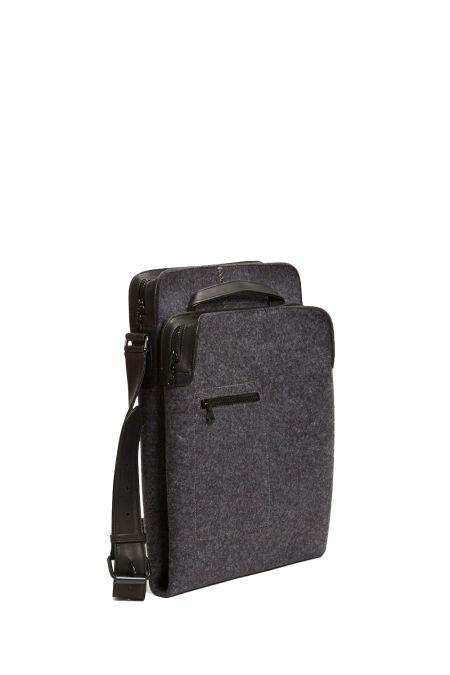 Zip top messenger charcoal - Messenger Bags - Mens