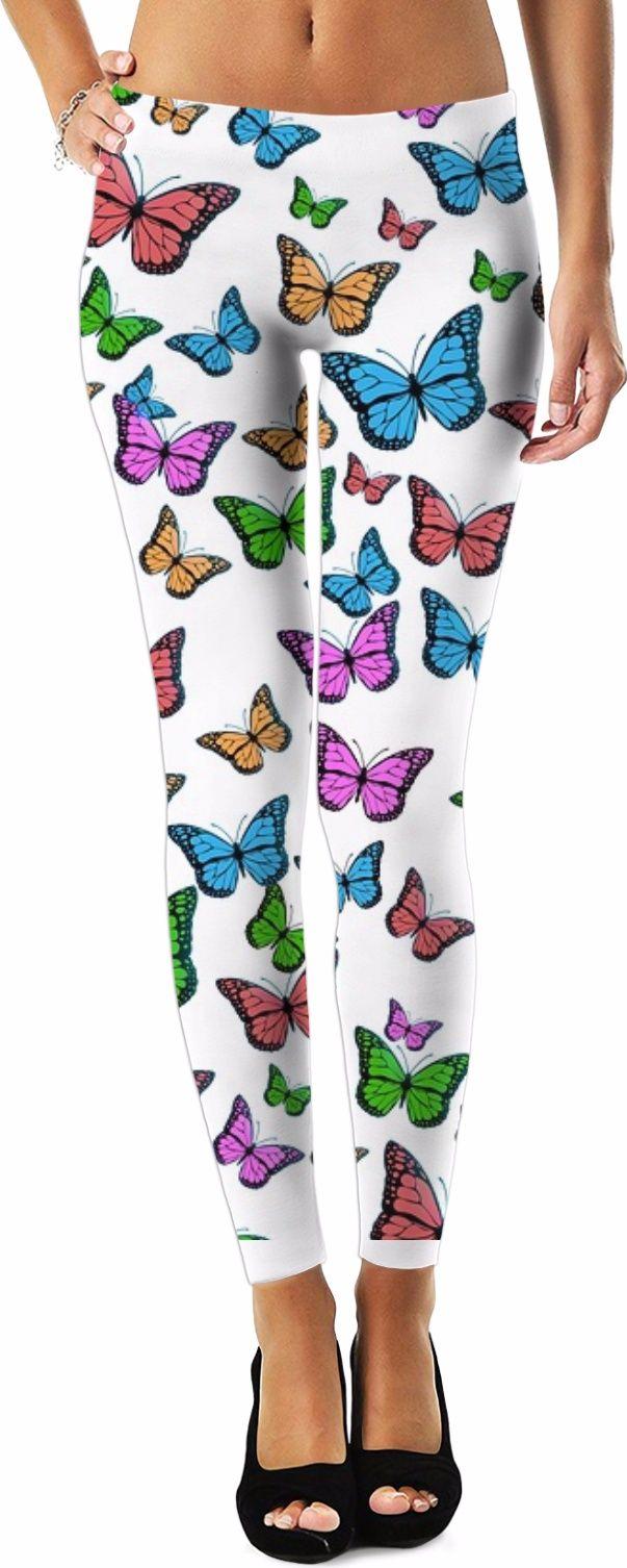 Gorgeous Butterfly Design Women/'s Leggings