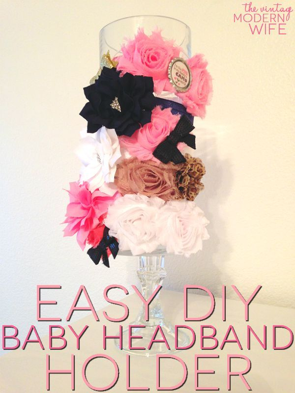 This Easy DIY Baby Headband Holder project uses few materials and comes in under $5! Totally making this!