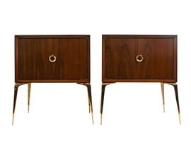 Pair Of Stiletto Stands   MidCentury  Modern, Metal, Lacquer, Side  End Table by Cf Modern