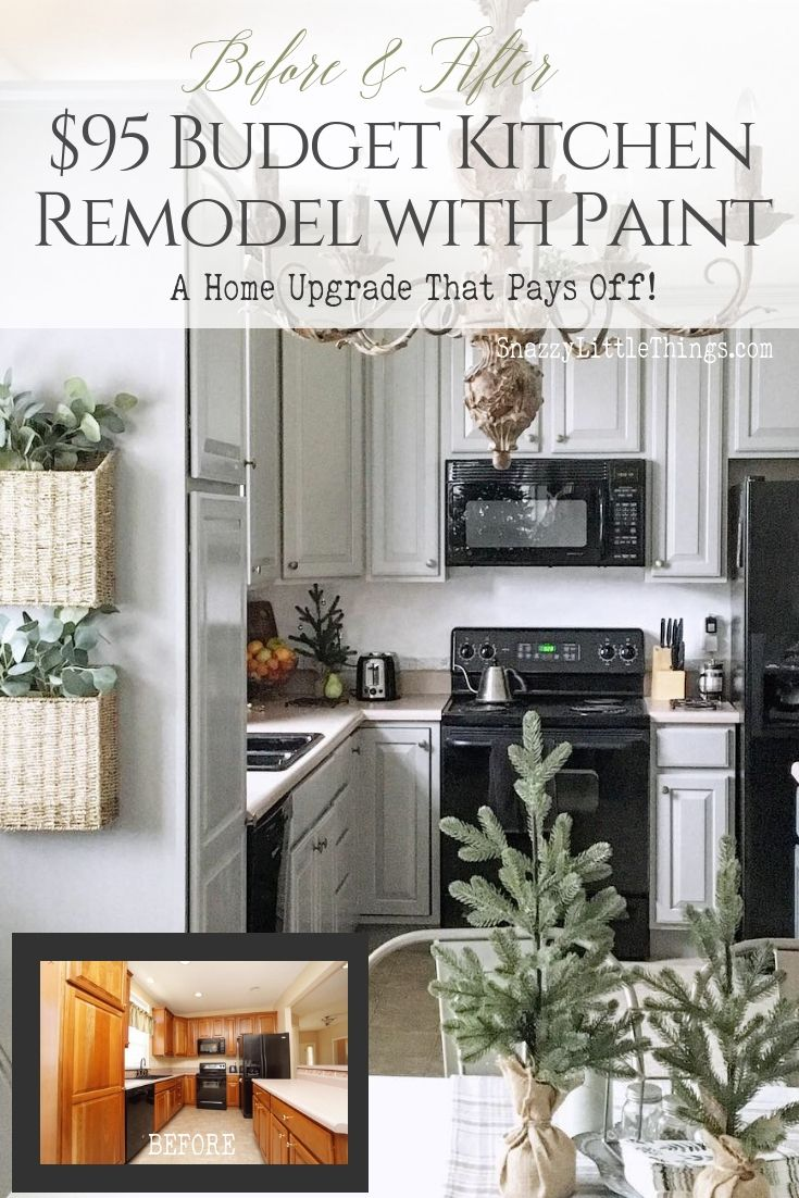 95 Kitchen Makeover With Paint Budget Kitchen Remodel Kitchen On A Budget Kitchen Cabinets Makeover