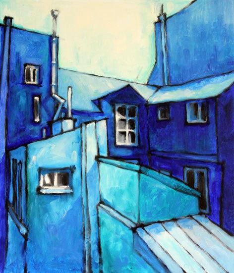 Paris Portal in blue, by Tubi Du