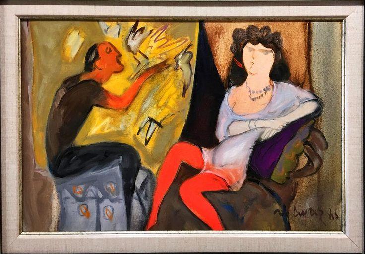 @galeriaysil Mustafa Ayaz 35x50 tvl üzeri yağlıboya 1988  Danat#art#müze#mustafaayaz#mustafaayazmüzesi#istanbul#türkiye