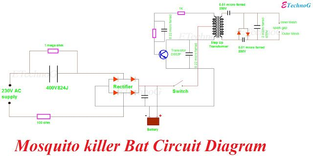 mosquito zapper circuit in 2020 | circuit diagram, electrical circuit  diagram, electronic circuit projects  pinterest