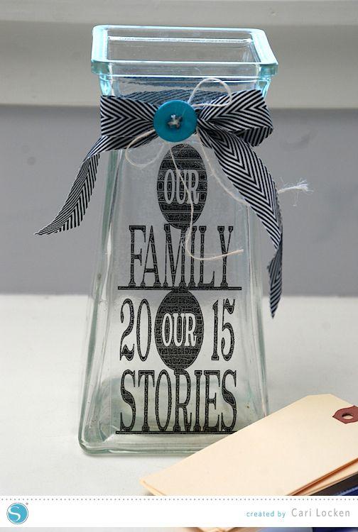 Silhouette America Blog   DIY Family Memory Jar #SilhouetteDesignTeam