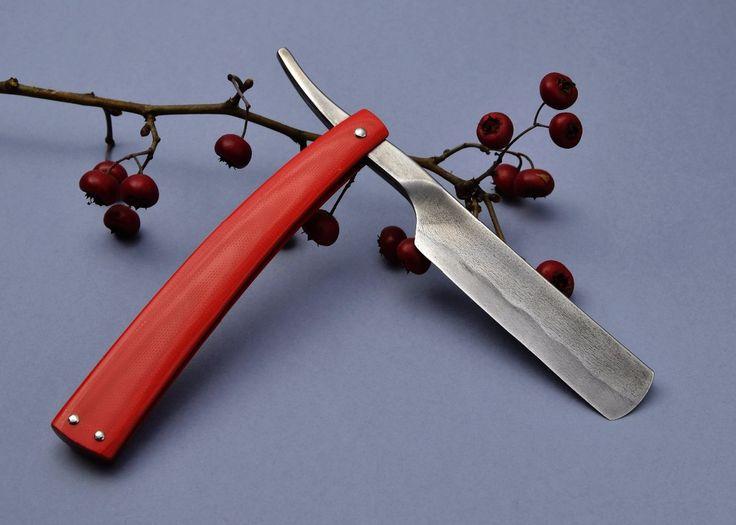 Břitva zakázková výroba Echtkováč červená G10