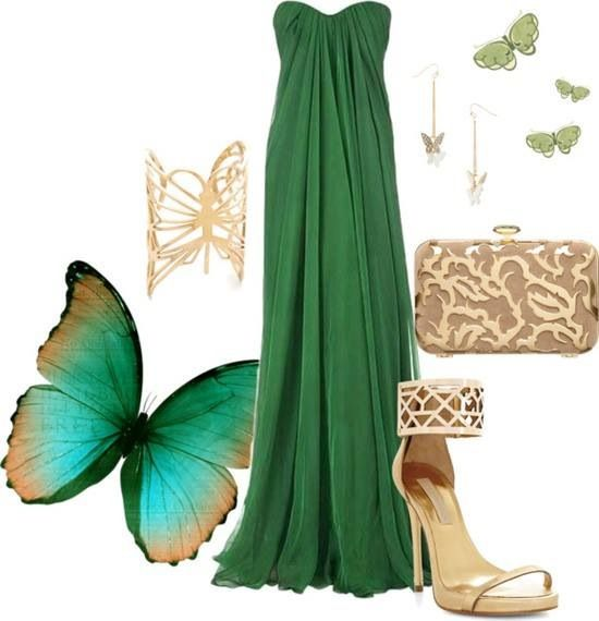 Green butterfly. Those shoes are it