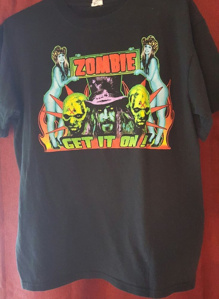 ROB ZOMBIE T-Shirt, Get It On Tour,  black, Men's LARGE, 2008, White Zombie | Clothing, Shoes & Accessories, Men's Clothing, T-Shirts | eBay!