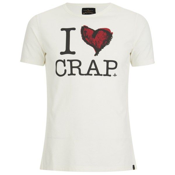 vivienne westwood anglomania men shirt | Vivienne Westwood Anglomania Men's 'I Love Crap' T-Shirt ...