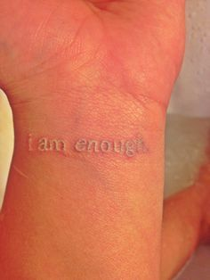 i am enough tattoo - Google Search
