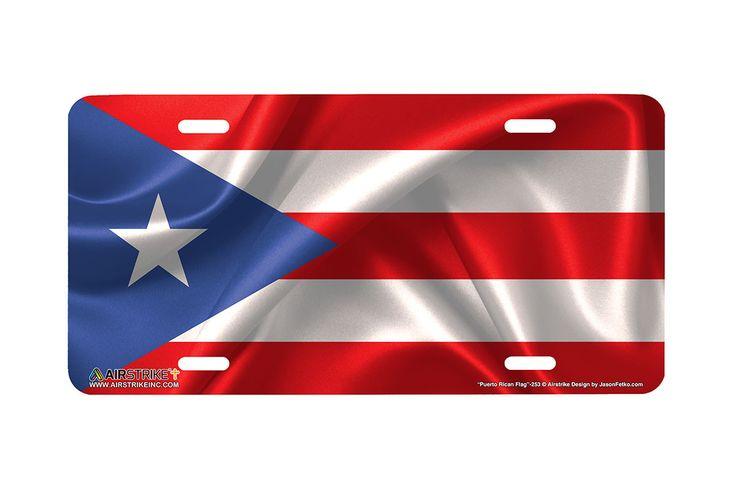 "Airstrike® 253-""Puerto Rican Flag"" Puerto Rican Flag License Plates"