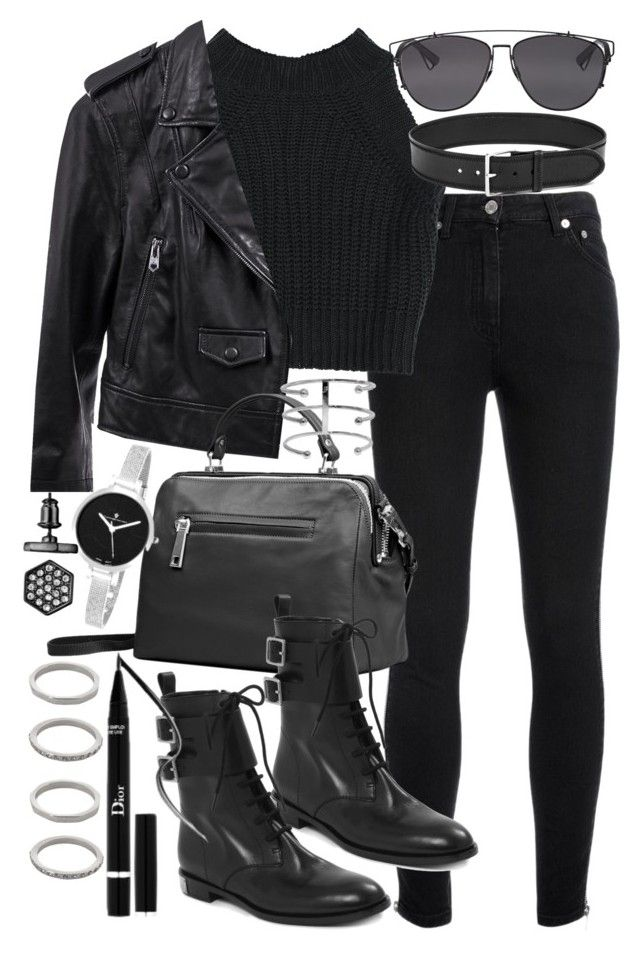 """Untitled #18915"" by florencia95 ❤ liked on Polyvore featuring Yves Saint Laurent, Linea Pelle, Marc by Marc Jacobs, Christian Dior, Forever 21, Christian Van Sant and Simply Vera"