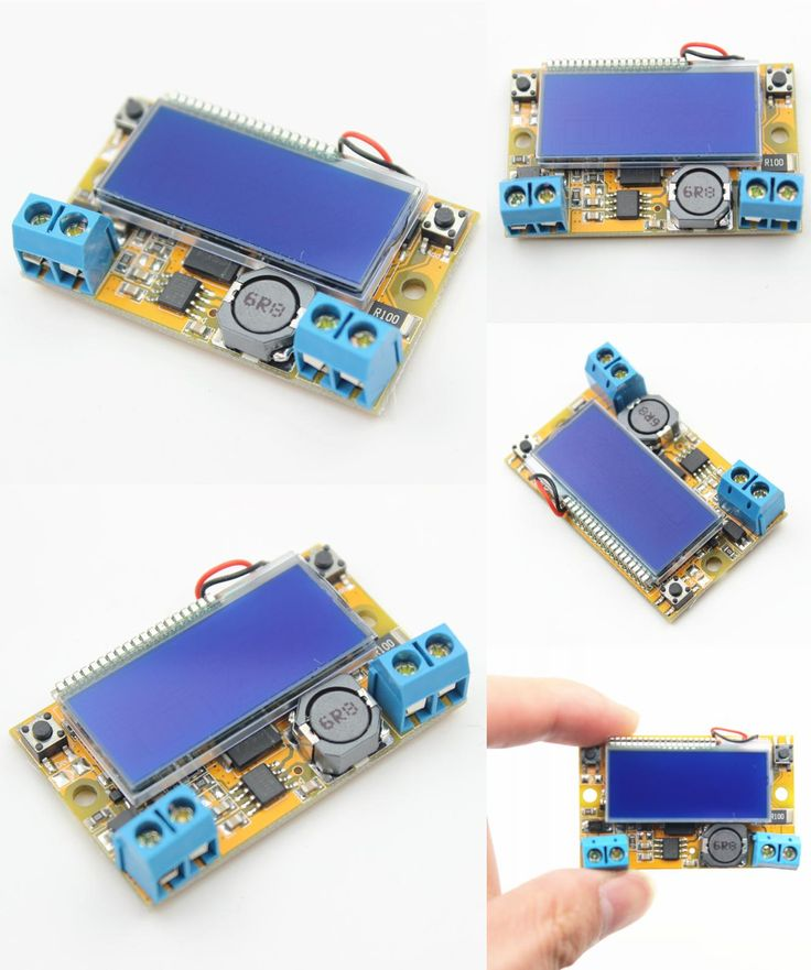 [Visit to Buy] Liquid Crystal Displays DC-DC Step-Down Buck Converter Power Supply Adjustable Push Button Module with LCD Display 5-23V 3A #Advertisement