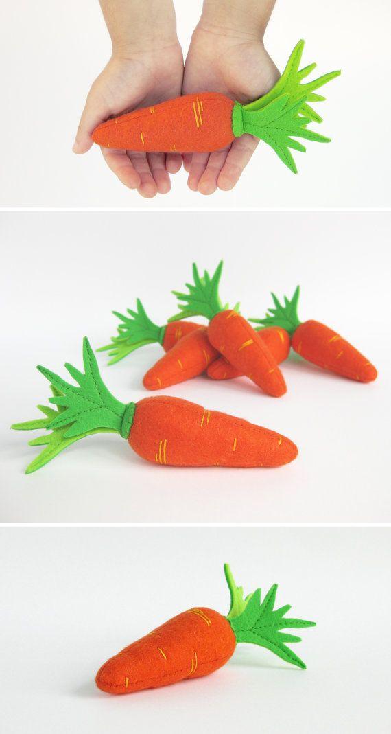 Voelde me spelen voedsel wortel Waldorf pretenderen keuken Gift voor kind groenten speelgoed voor Baby douche cadeau Eco-vriendelijke speelgoed Montessori speelgoed instellen spelen
