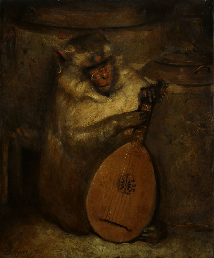 Monkey with lute