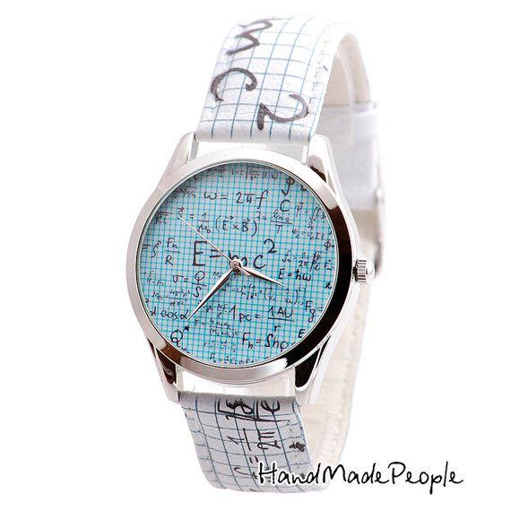 Einstein Relativity Watch, Extraordinary Unisex Wrist Watch, Cool Gifts for Guys, Unusual Gifts for Women - Worldwide Free Shipping