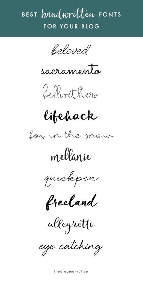 Best Handwritten Fonts For Your Blog | The Blog Market