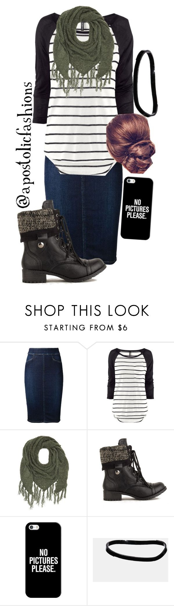 """""""Apostolic Fashions #911"""" by apostolicfashions ❤ liked on Polyvore featuring Citizens of Humanity, H&M, Charlotte Russe, Casetify and ASOS"""
