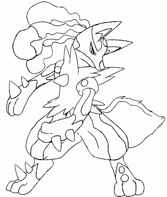 32 Mega Lucario Coloring Page Pokemon Coloring Pages Pokemon