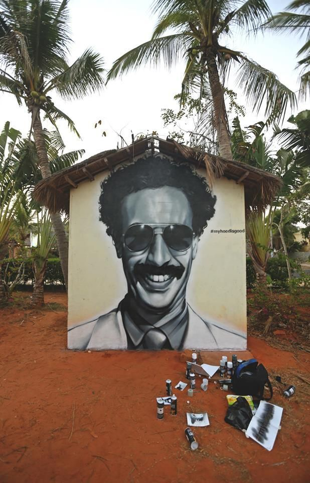 Sasha Baron Cohen alias Ali G alias Borat Sagdiyev aka Bruno by Hood Graff