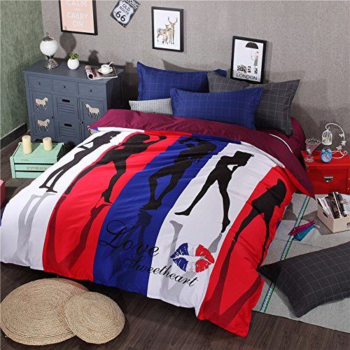 miaoyun fashional design floral bedding set printed charming girls 100 cotton 4pc duvet cover set