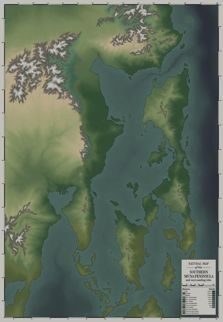 Natural Map of the Southern Muna Peninsula