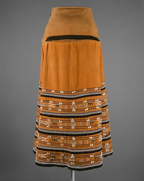 Skirt. South Africa. Xhosa or Mfengu Peoples. Beadwork has been a major form of aesthetic expression in southern Africa for nearly 200 years. Among the many diverse ethnic groups of the region, the Xhosa peoples have an especially rich tradition of beaded regalia