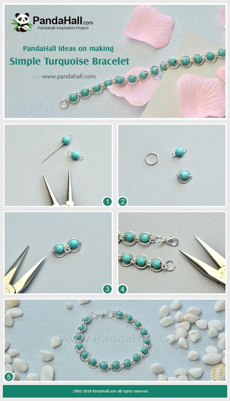 #Beebeecraft #DIY idées pour faire simple #Turquoise #Bracelet