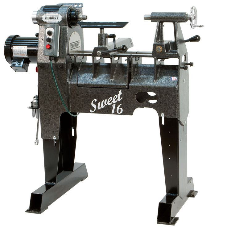 Robust Sweet 16 Lathe from Craft Supplies USA --- Possibly the finest lathe on the market today, Robust wood lathes enjoy an unrivaled reputation for craftsmanship, quality and performance with a fit and finish second to none. #robusttools #woodturning #lathe #woodturnerscatalog