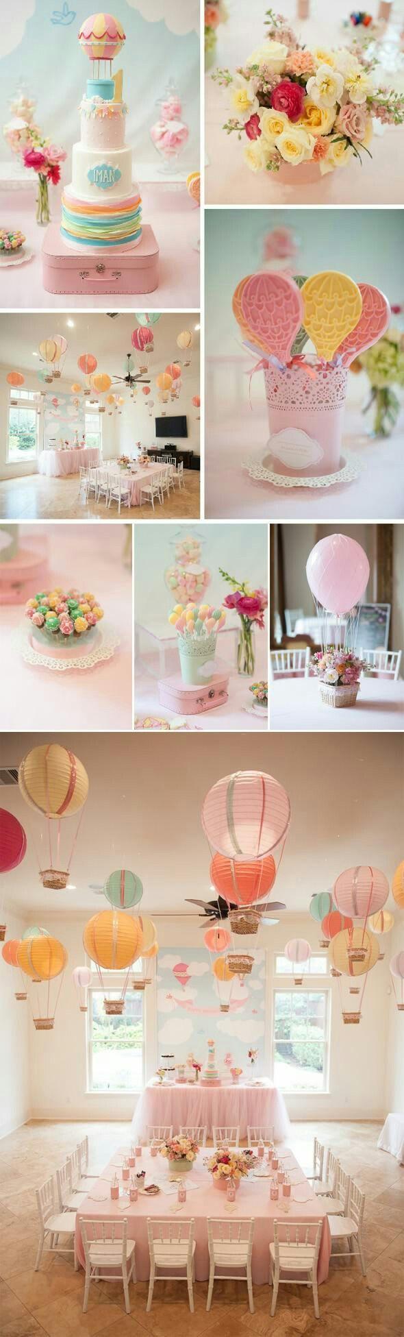 Babyshower, Balloon Party, Balloon Cake, Hot Air Balloons, Air Ballon, Oi  Gente, Birthday Ideas, 20 Birthday, Birthday Decorations
