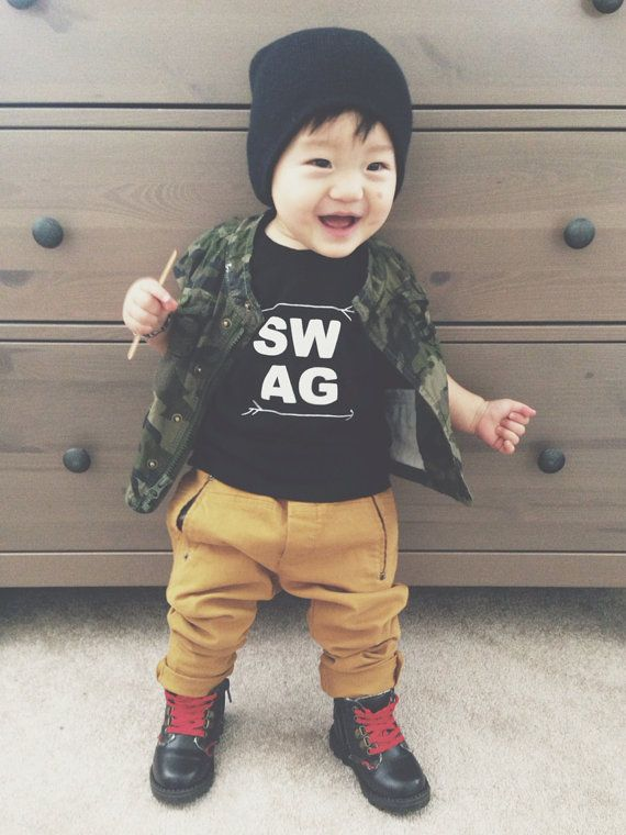 Kids Fashion Boy Little boy Swag Baby boy fashion Baby clothes (girl) Kid outfits Fashion for kids Baby girl Fashion Toddler girls fashion Infant boy fashion. Brown bomber Brown beanie tan timbs n ripped jeans cute for ro Find this Pin and more on Kyler Knox by Alisha Hayman.