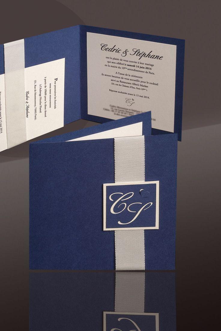 Faire-part Mariage Classique blueprint