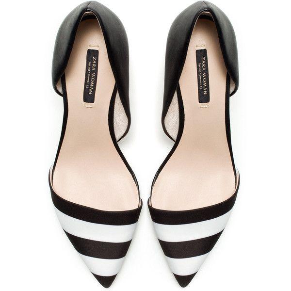 Zara Black And White Combination Heels #shoes #omg #beautyinthebag #flats