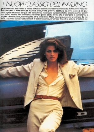 gia carangi, grew up in this era. Still engraved in mind that look: smoldering, sexy, power and confident.