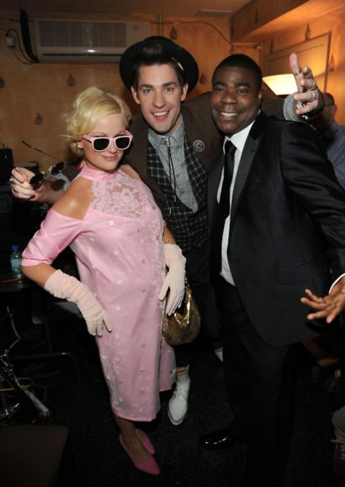 """love the """"pretty in pink"""" costume...I didn't think it was possible to love Amy Pohler and Jon Krasinski any more than I already do."""