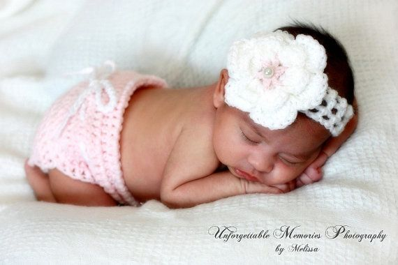 Pritty+girl+diaper+cover+and+headband++by+GlowsCrochetCreation,+$4.99