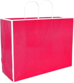 San Francisco Shopper - Large  16 x 6 x 12in Fuchsia 100% Recycled material -build your brand while saving the planet!