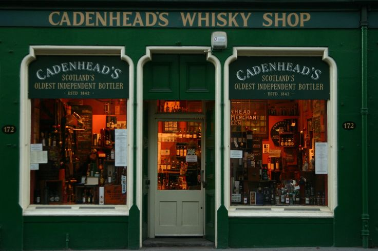 Cadenhead's whisky shop. Edinburgh, Scotland
