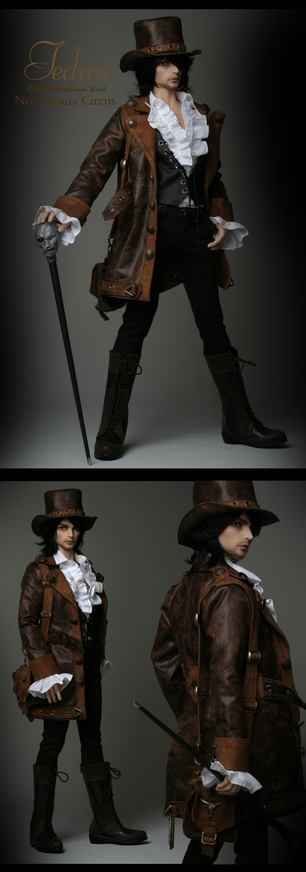 Ball jointed Doll Tedros from Iplehouse.net  Love the 5o'clock shadow as well as the steampunk costuming
