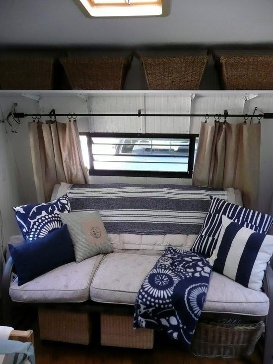 "camp trailer makeover | Camper re-do / Glamping, Camper Trailer Makeover. AKA ""The Beach House ..."