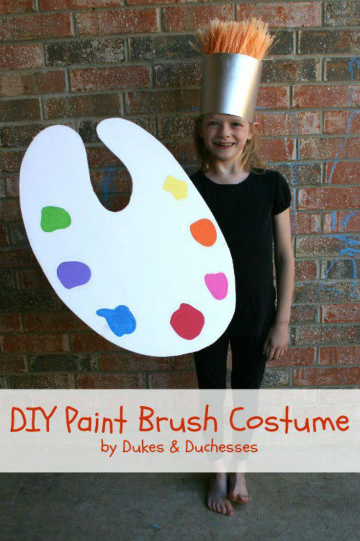 Turn broom bristles and poster board into a paintbrush.