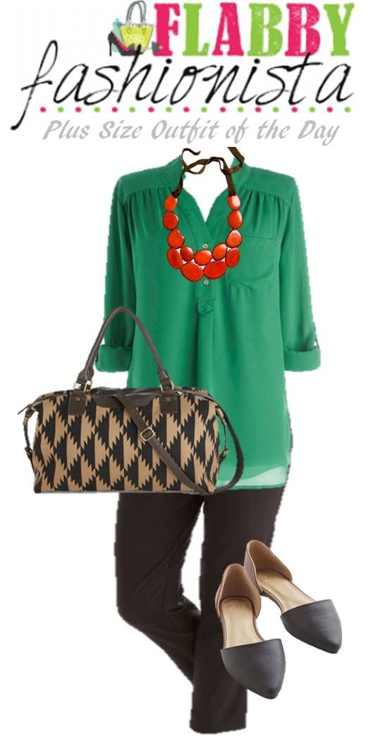 Plus Size Outfit of the Day – Green for Spring