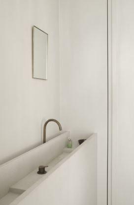 Vanity in natural stone - House in Antwerp Belgium by Hans Verstuyft Architects