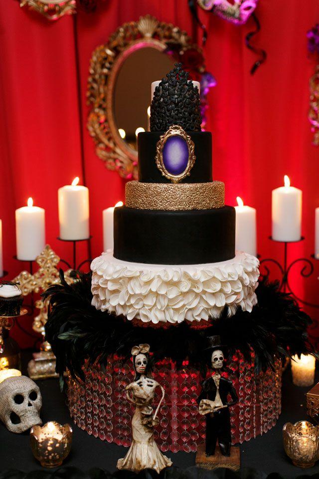 a darkly chic halloween wedding inspiration shoot at the elegant grand bohemian hotel in orlando